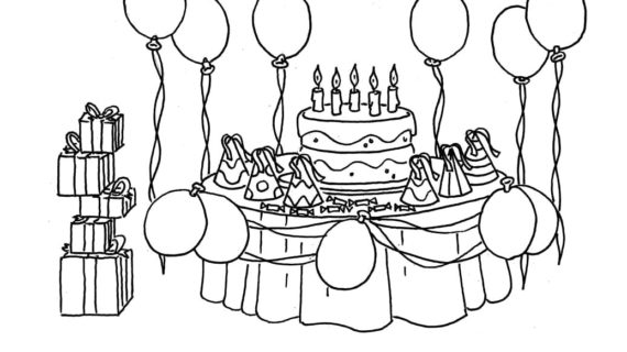 a birthday party drawing ; birthday-party-scene-for-drawing-birthday-party-coloring-pages-bing-images-coloriage-570x320