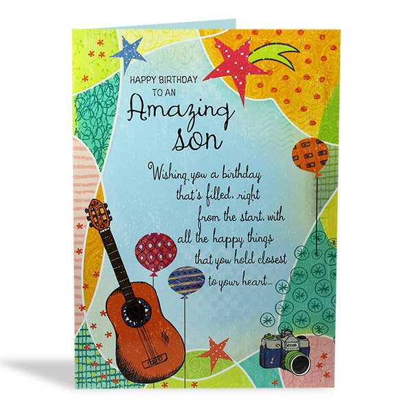 a picture of a birthday card ; Happy_Birthday_Card_For_My_Son_3080BSN00037_b5fe9bb9