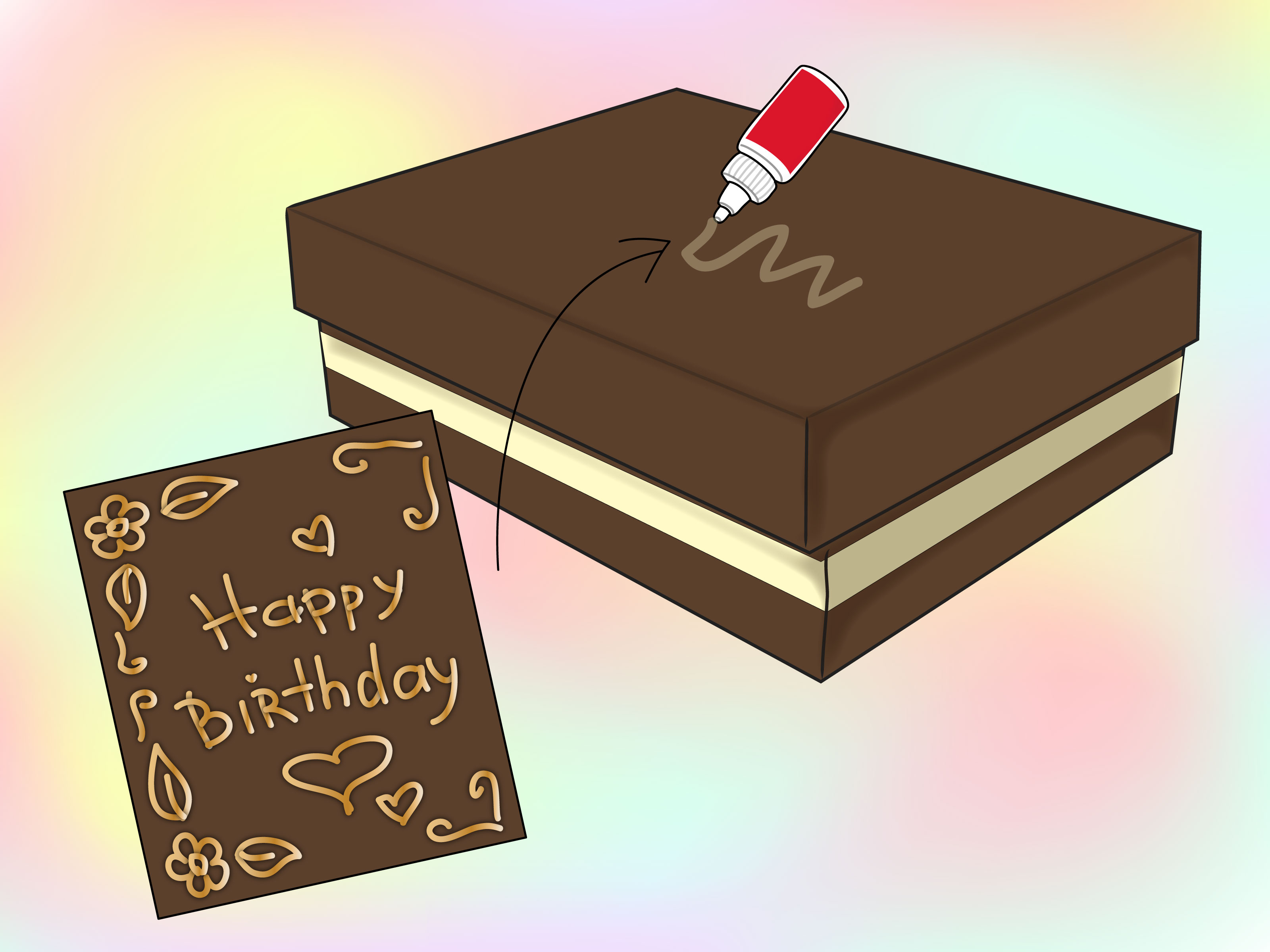 a picture of a birthday card ; Make-a-Construction-Paper-Birthday-Card-Step-10