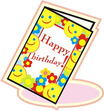 a picture of a birthday card ; birthday-card