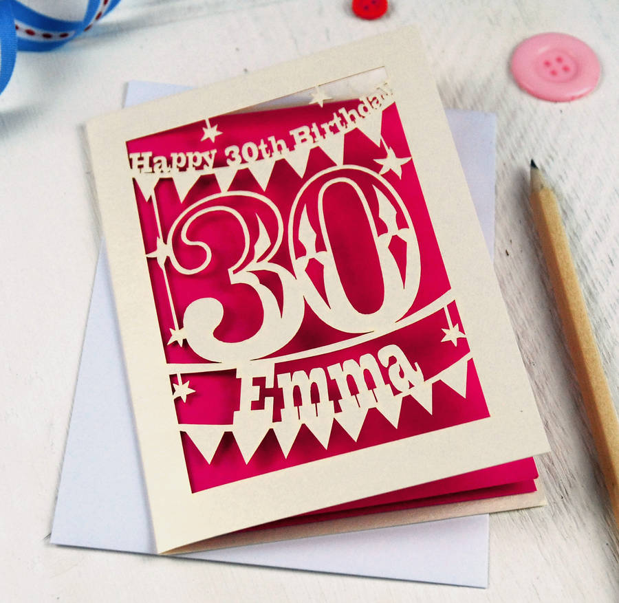 a picture of a birthday card ; original_personalised-30th-birthday-card