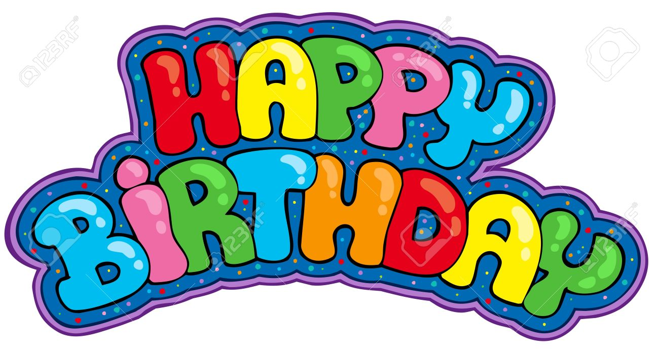 a picture of a happy birthday sign ; 7929288-happy-birthday-sign-illustration-