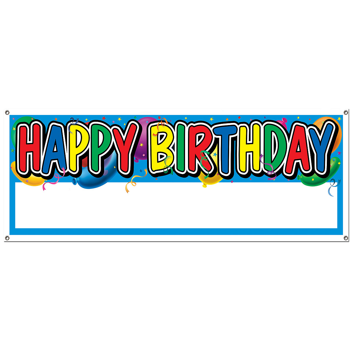 a picture of a happy birthday sign ; BEI50187