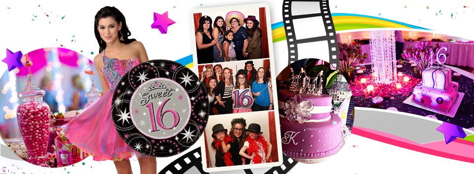 activities at a sweet 16 birthday party ; sweet16