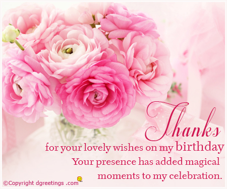 appreciation message for birthday greetings ; for-your-lovely-wishes