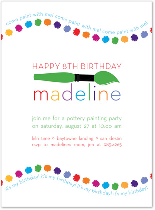 art themed birthday party invitation wording ; curved-art-party-green-invitations-myexpression-22848-art-party-invitation-wording