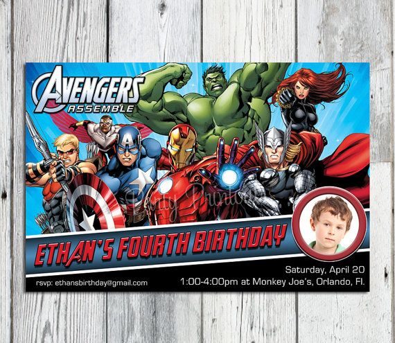 avengers themed birthday invitation ; Cozy-Avengers-Party-Invitations-To-Create-Your-Own-Unique-Party-Invitations
