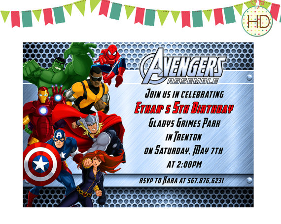 avengers themed birthday invitation ; avengers-birthday-invitations-using-an-excellent-design-idea-aimed-to-prettify-your-Birthday-Invitation-Templates-12