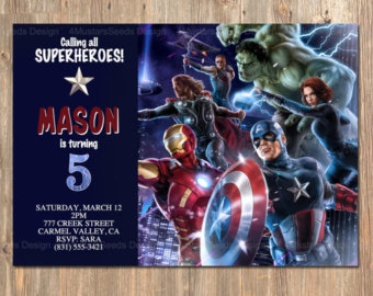 avengers themed birthday invitation ; avengers-party-invitations-is-one-of-the-best-idea-for-you-to-make-your-own-Party-invitation-design-1