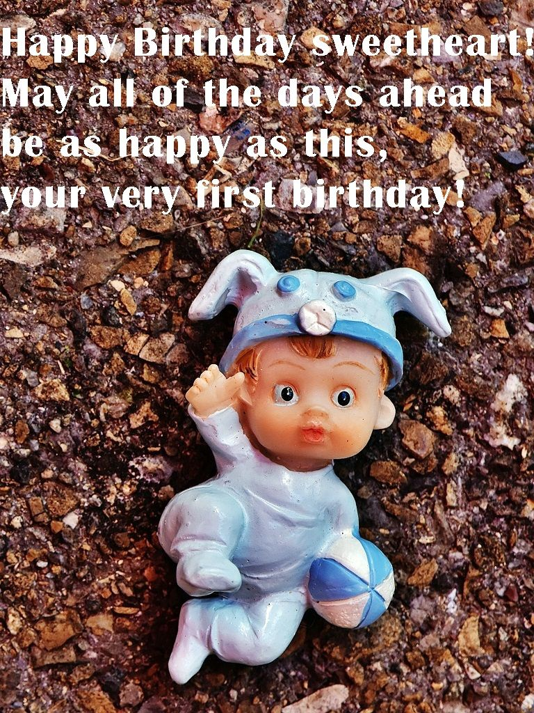 baby 1st birthday greeting message ; 5b8827e404002f2347806455d36e80da