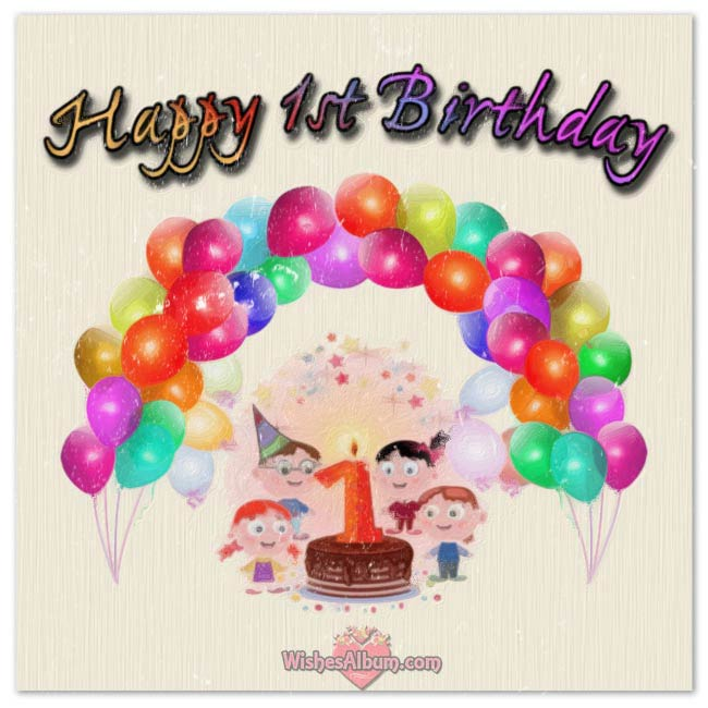 baby 1st birthday greeting message ; b34d92f5503b568140325f1e0217b1b7