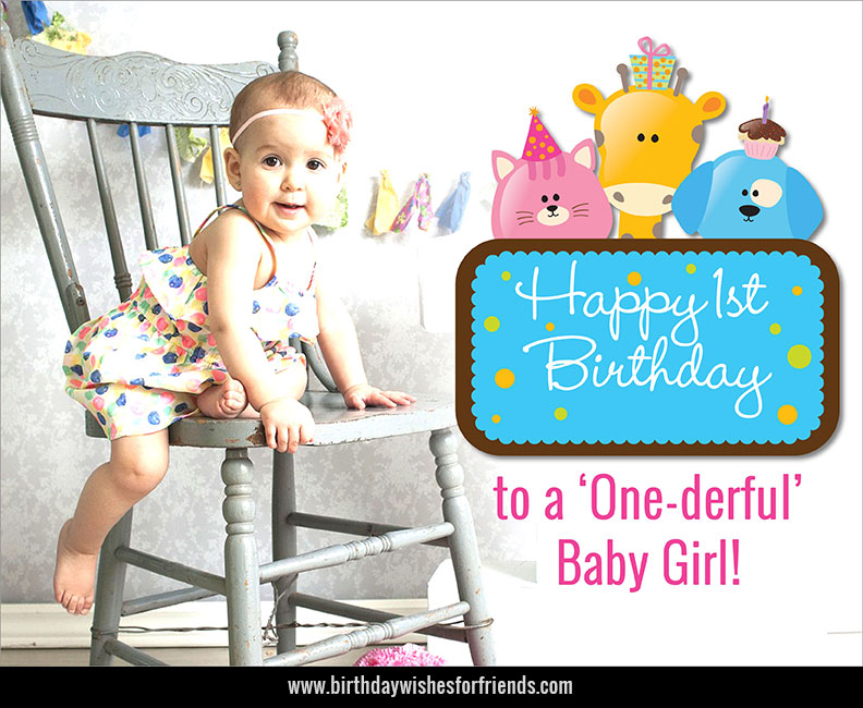 baby 1st birthday greeting message ; baby-girl-1st-birthday-greetings