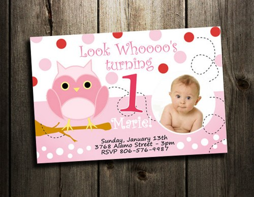 baby birthday invitation card design ; owl_birthday_invitation_-_digital_file_-_photo_1st_first_card_baby_shower_printable_look_whoos_pink_custom_03323bb5