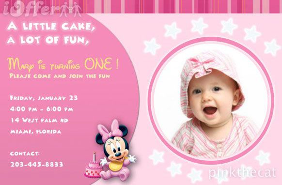 baby birthday invitation card template ; 67ad066c6e93413767120b981569b83e