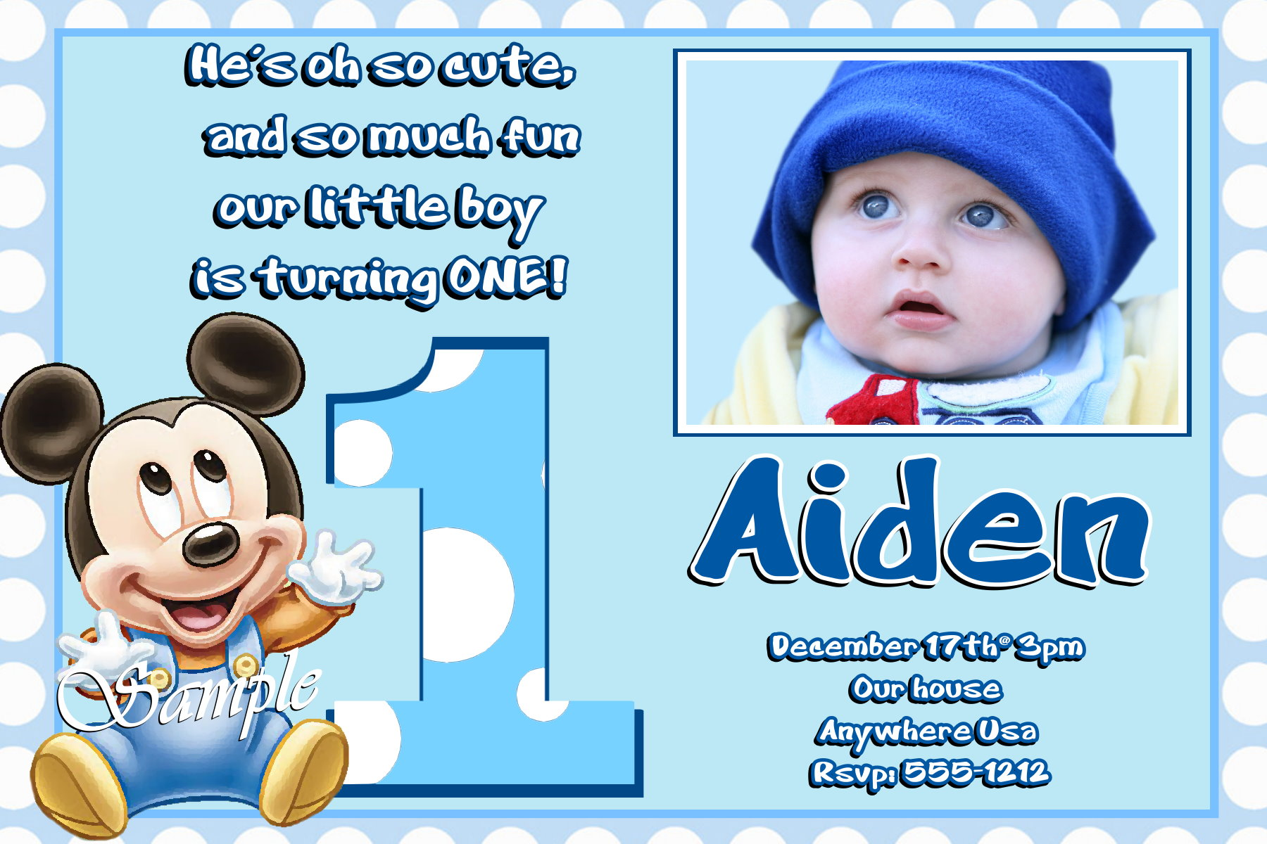 baby boy birthday invitation card design ; Baby-Boy-1St-Birthday-Invitation-Message-and-get-inspired-to-create-your-own-birthday-Invitation-design-with-this-ideas-1