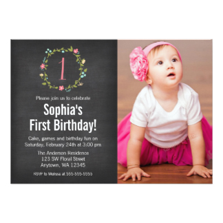 baby girl birthday invitation card design ; 57f346c36fa0ba16223d71445055eb23