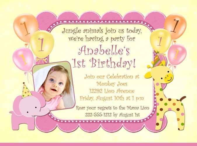 baby girl birthday invitation card design ; Baby-Girls-1st-Birthday-Invitations-ideas-14