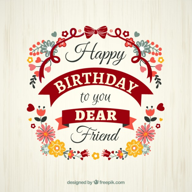 bday card designs ; floral-birthday-card-template_23-2147510352
