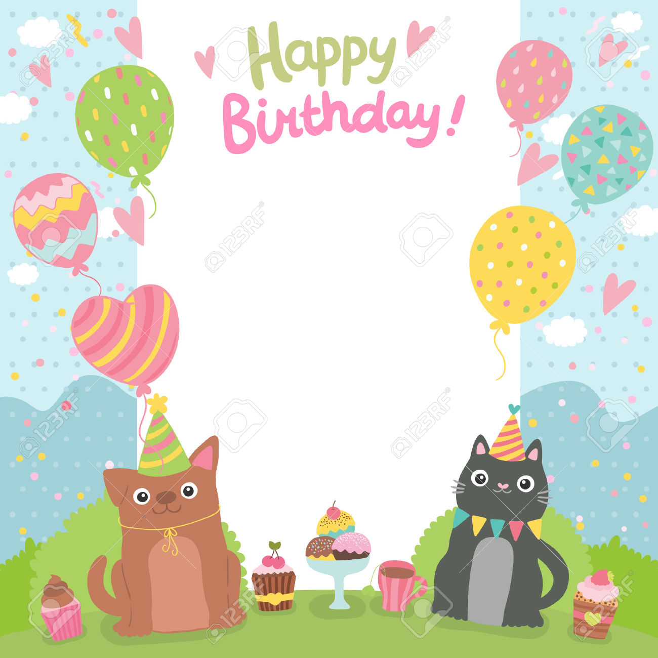 bday card designs ; template-for-birthday-card-also-colorful-and-classic-themed-and-2-cats-completing-simple-and-elegant-stunning-adding-by-beautiful-design-looked-so-unique