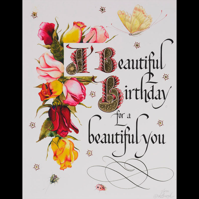 bday greeting card designs ; BB250_Beautiful_Birthday