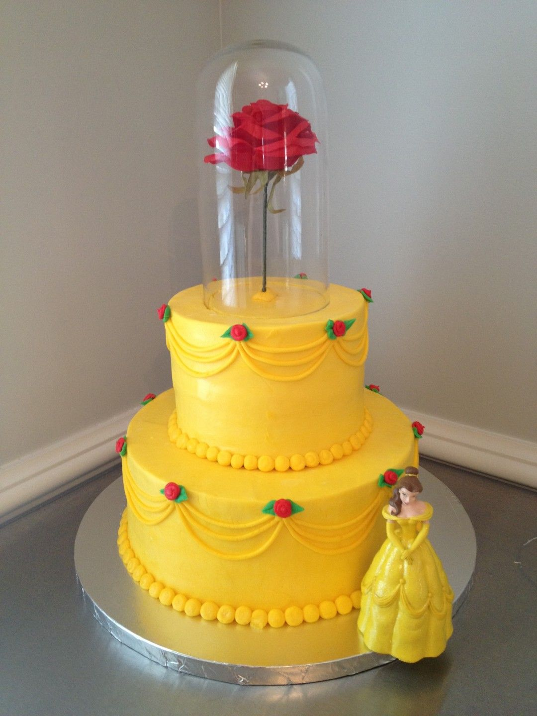 beauty and the beast birthday sheet cake ; 042fff189911f8dca7be86027c8808de