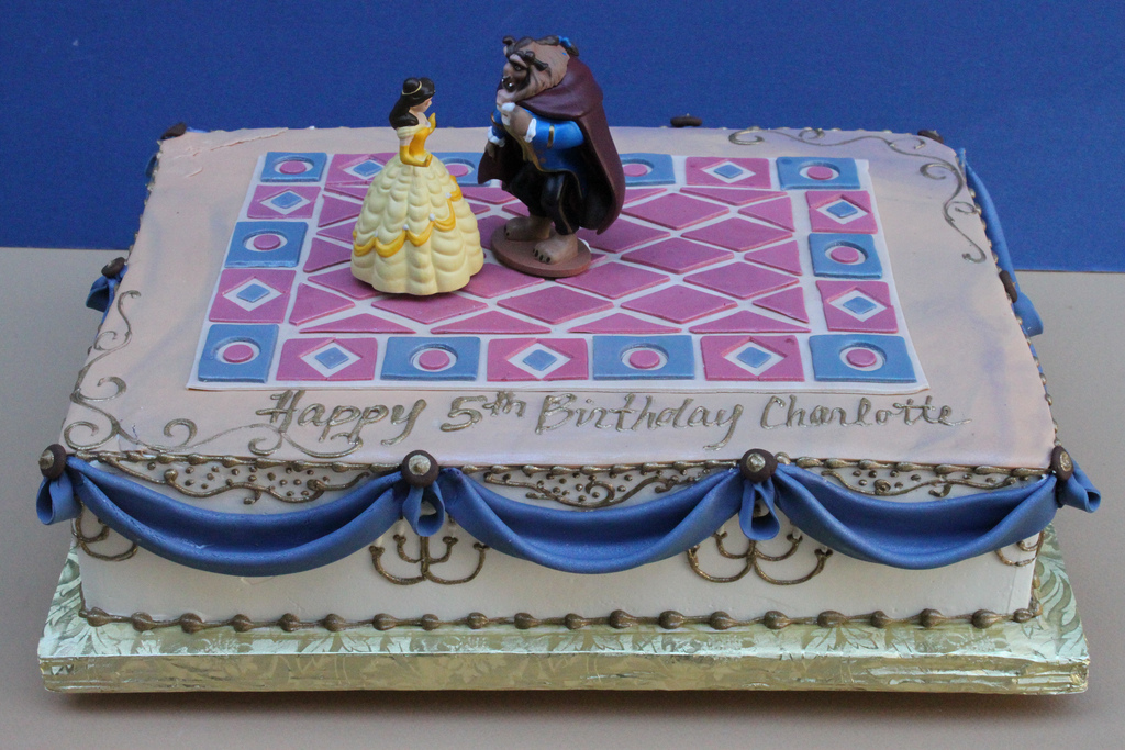 beauty and the beast birthday sheet cake ; 56af05db2b2d35255541179f8d5f55ab