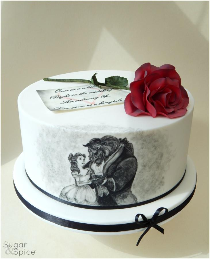 beauty and the beast birthday sheet cake ; bygmwy8y3tekzpgkqrng