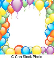 birthday balloons border ; birthday-border-with-frame-made-of-balloons-drawing_csp35076897