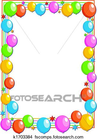 birthday balloons border ; clipart-balloons-border-drawings-of-balloon-k1703384-search-clip-art