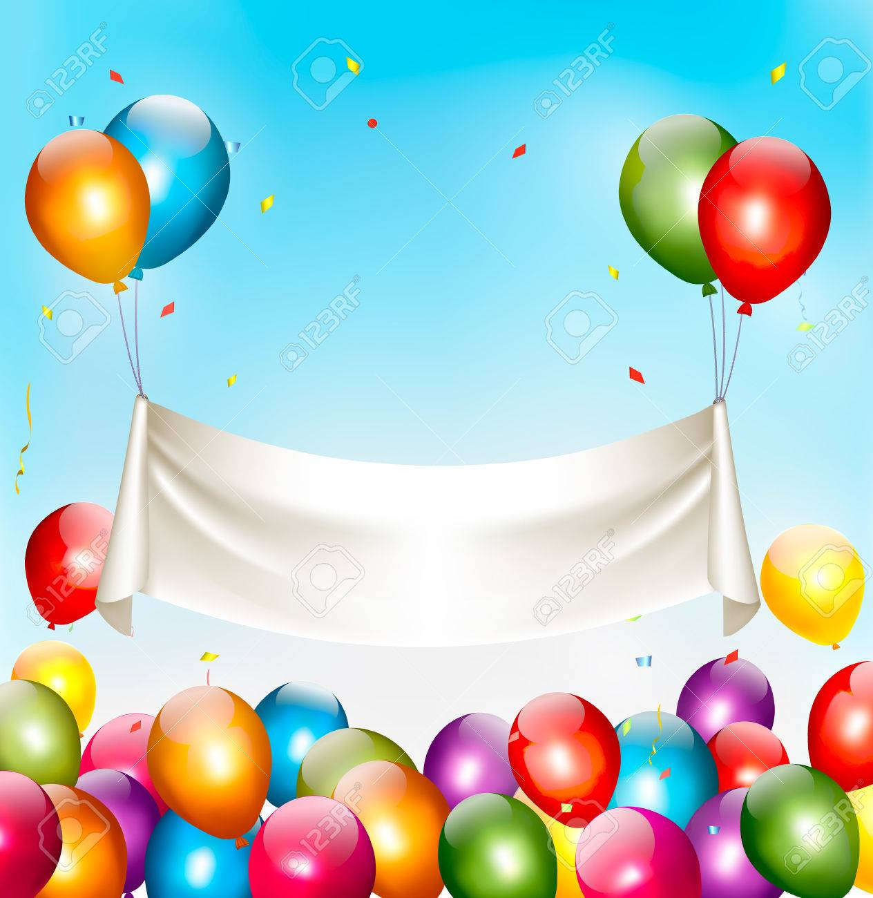 birthday banner images ; 41070216-holiday-birthday-banner-with-colorful-balloons-and-confetti-vector