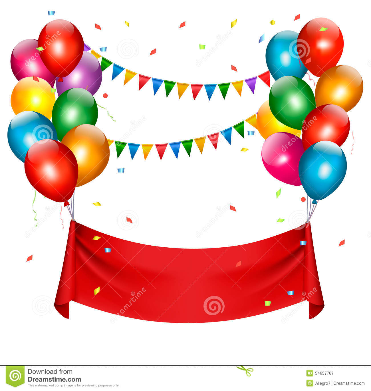 birthday banner images ; holiday-birthday-banner-balloons-vector-54657767