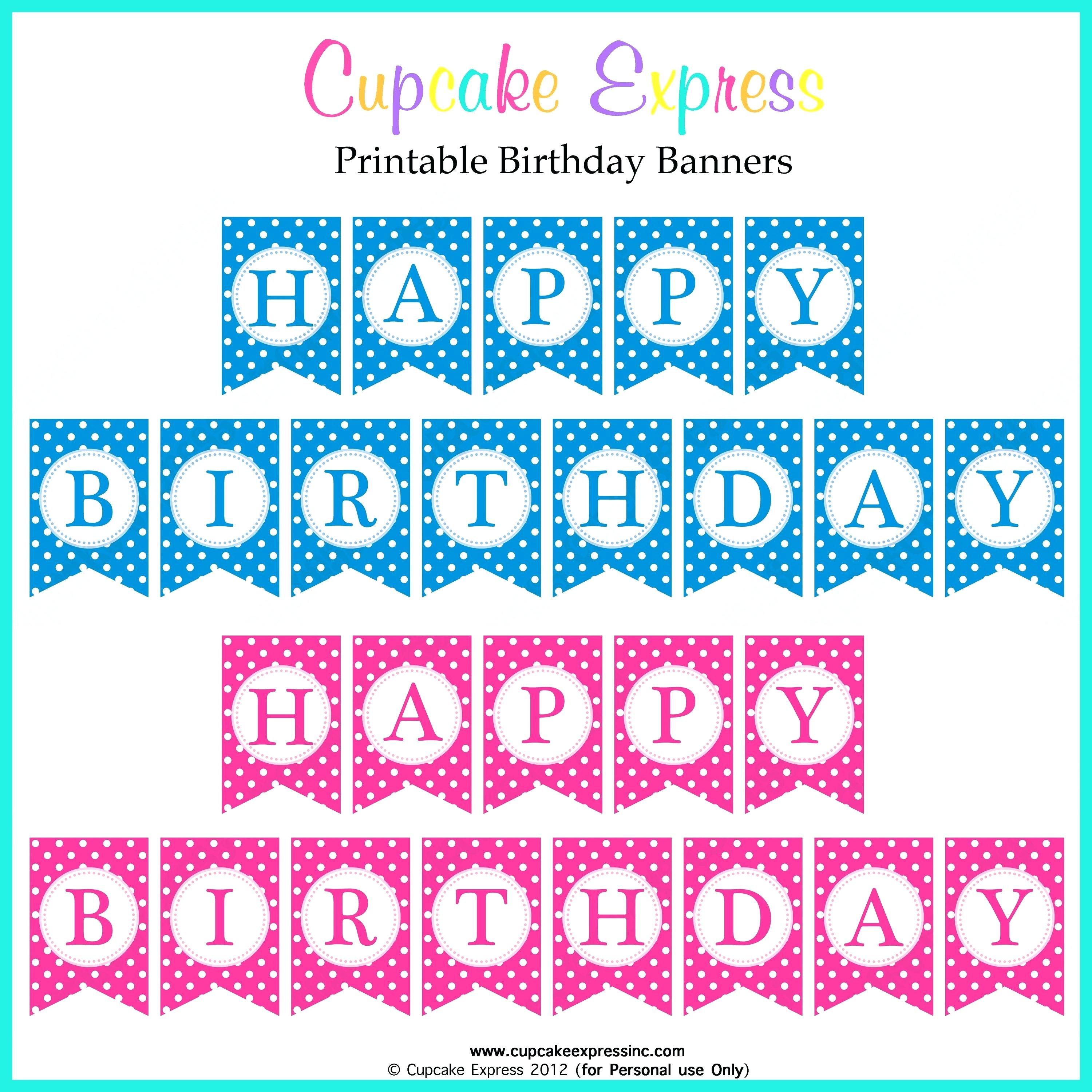 Birthday Banner Templates Free Printable Best Happy