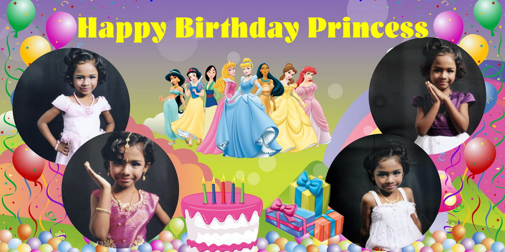birthday banner with picture ; 6-X-3-HAPPY-Princess-Birthday-Banner-Singapore