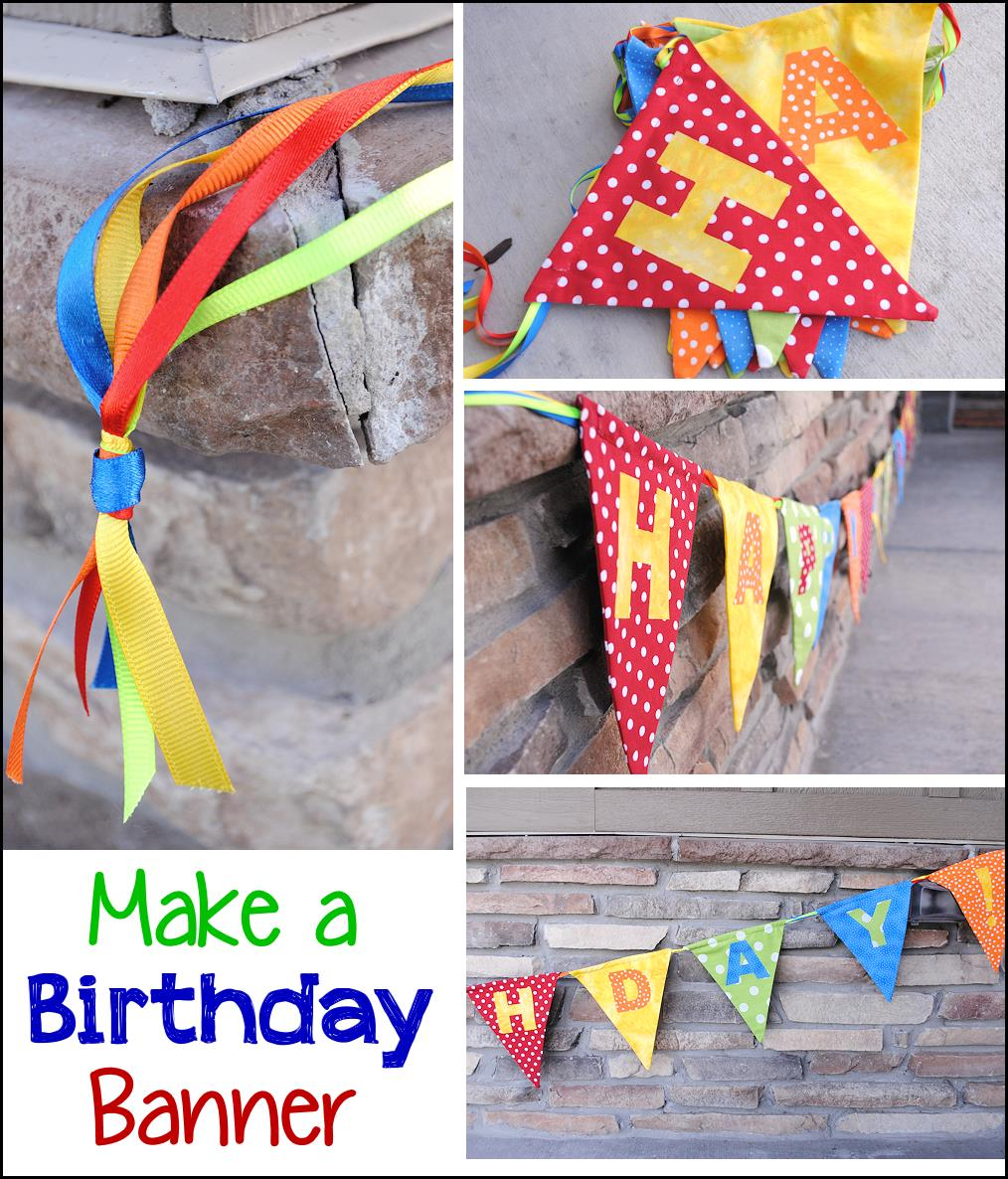 birthday banner with picture ; Howtomakeabirthdaybanner