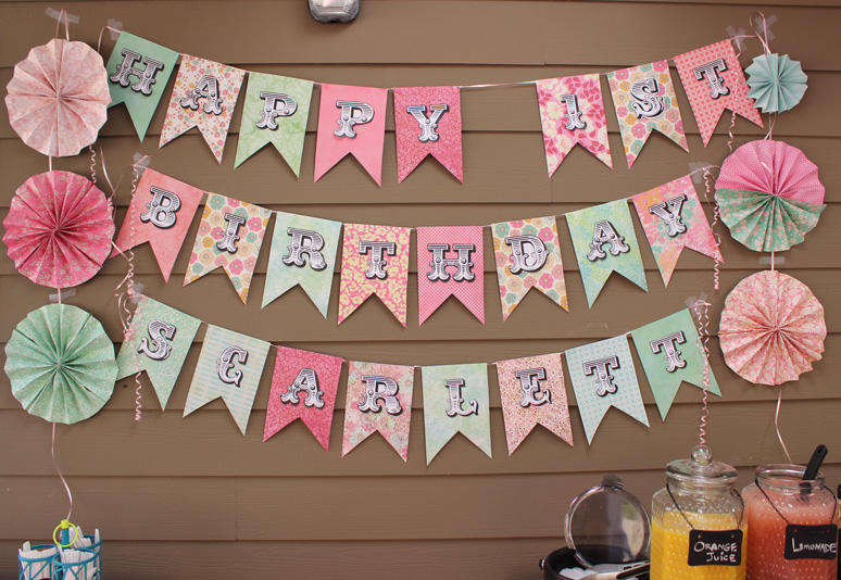 birthday banner with picture ; photo-birthday-banner-15-adorable-diy-birthday-banners