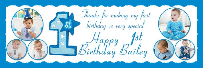 birthday banners with photos ; BB-33-um-demo