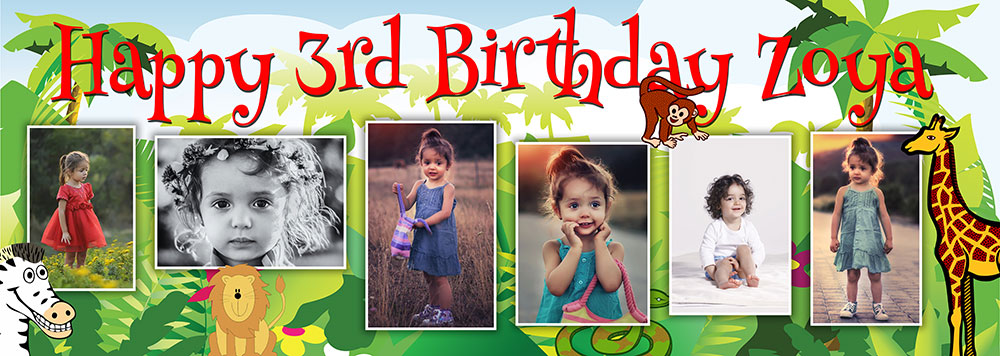 birthday banners with photos ; CH53-Jungle-background-6-pictures