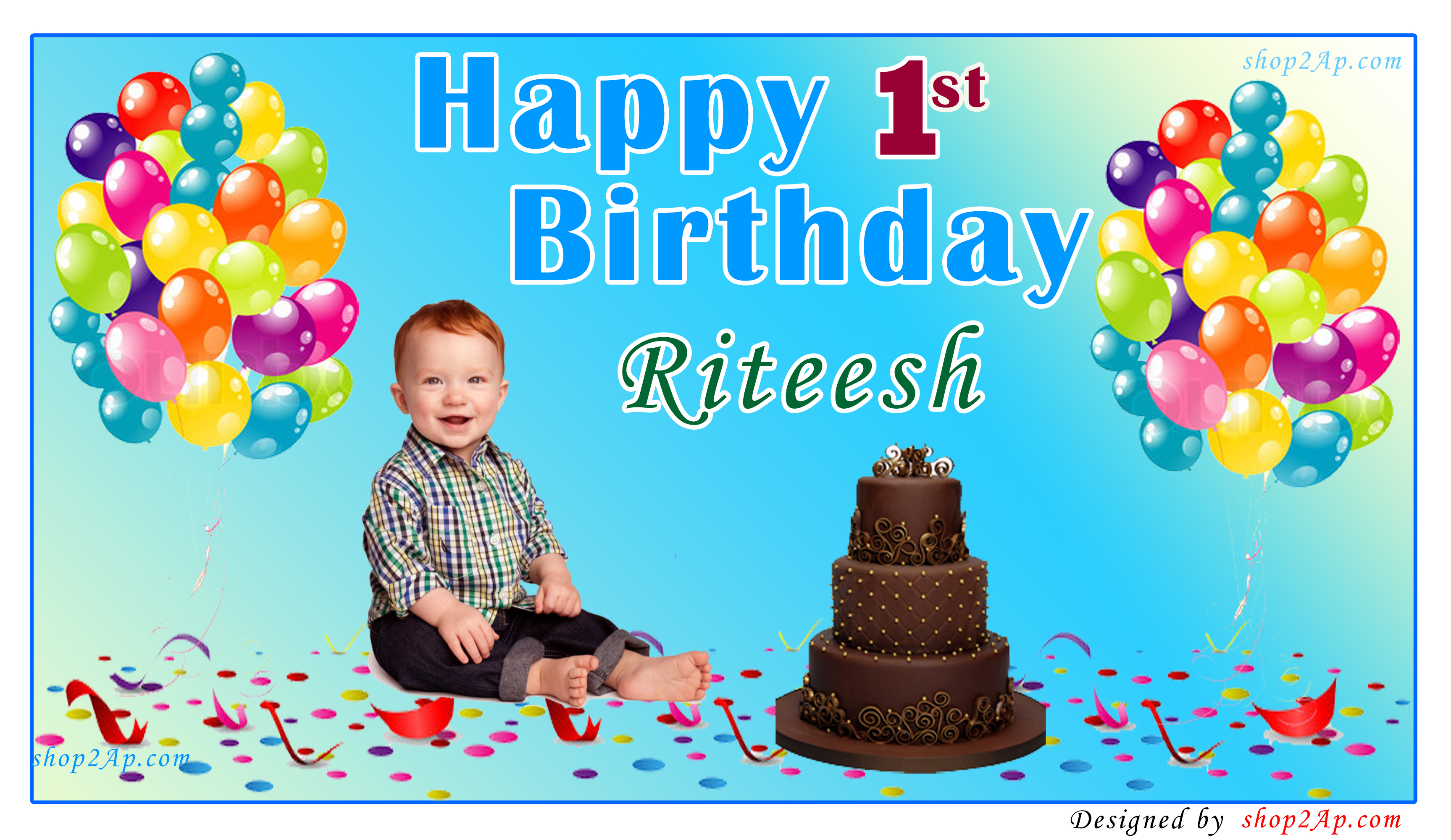 birthday banners with photos ; shop2ap_blue_Background