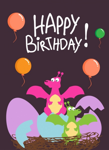 birthday border template free ; birthday_banner_template_balloon_dragon_hatched_eggs_icons_6829399