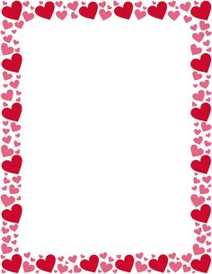 birthday border template free ; e47815729e9fed391d3f235f34df3205--art-frames-red-hearts