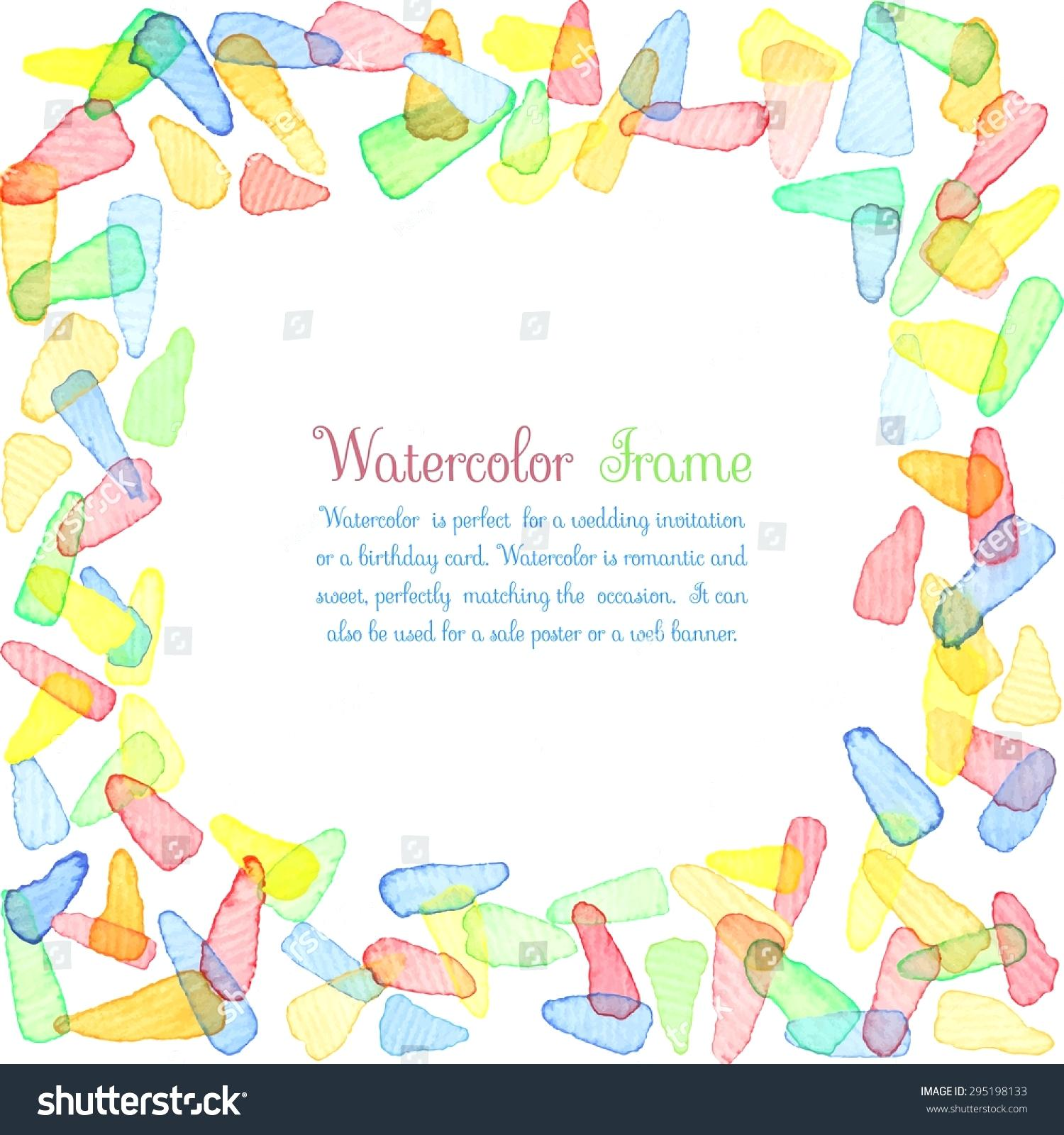 birthday border templates for word ; birthday-border-template-hand-painted-water-color-frame-with-text-cute-decorative-bright-colorful-panels-templates-for-word