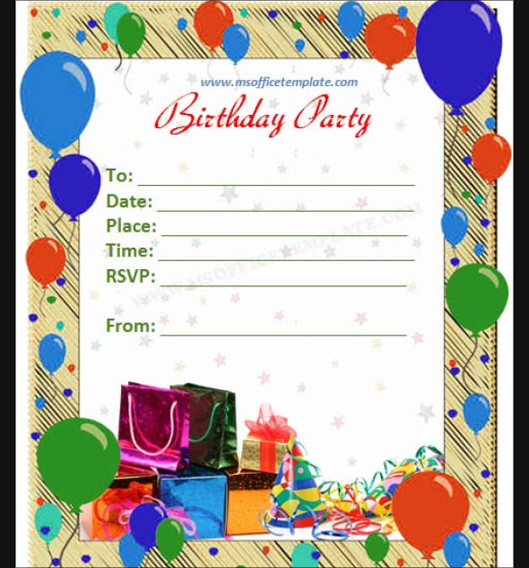birthday border templates for word ; fine-word-invitation-template-simple-layout-invitation-colored-with-balloons-border-style-image-and-creations-birthday-invitation-card-template