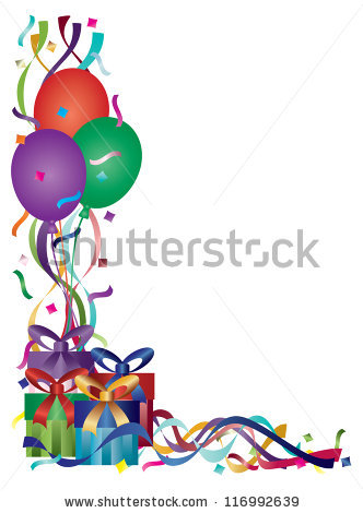 birthday borders for photos ; stock-vector-birthday-presents-with-colorful-ribbons-and-confetti-border-background-vector-illustration-116992639