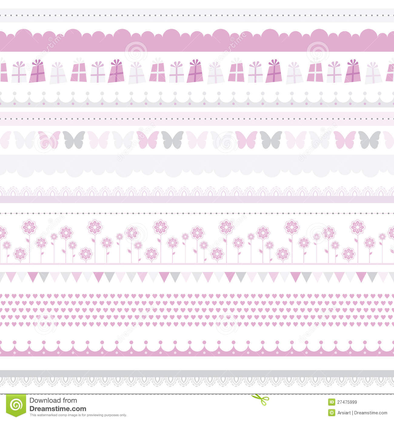 birthday borders free downloads ; cute-baby-seamless-border-child-birthday-pattern-27475999