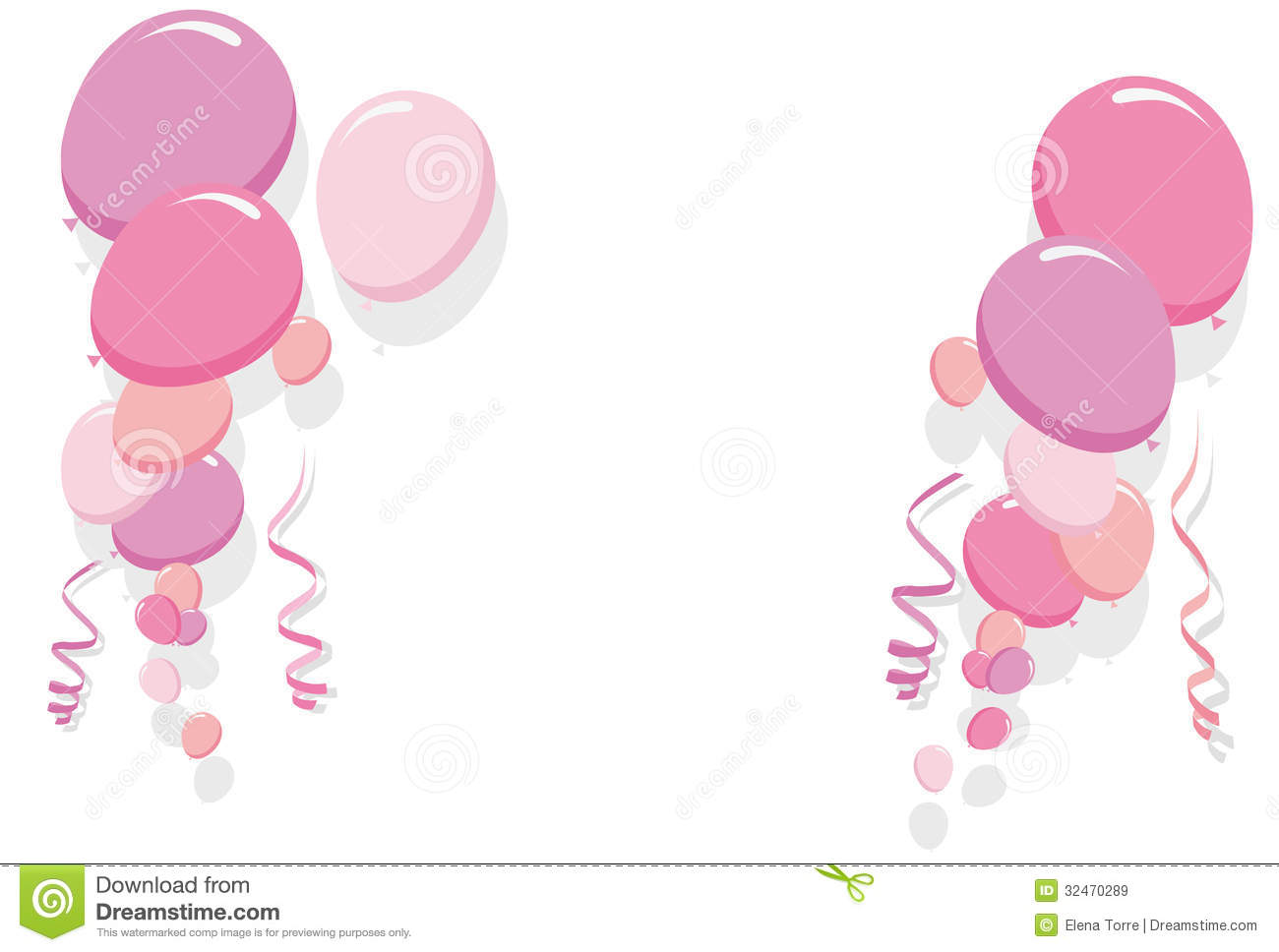 birthday borders free downloads ; pink-balloons-border-frame-illustration-girl-birthday-cards-party-card-32470289