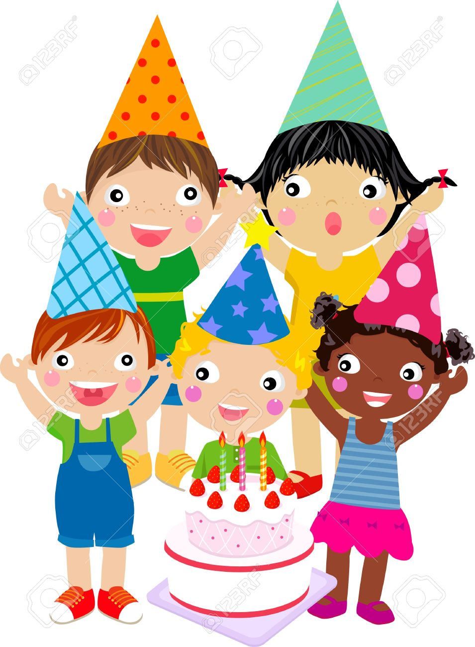birthday boy clipart images ; 21782341-kids-and-birthday-cake