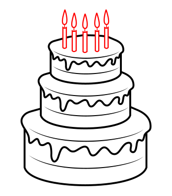 birthday cake drawing pictures ; 9188bc0c15ef2160054cad5a8921de09
