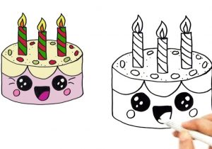 birthday cake drawing pictures ; how-to-draw-a-cute-birthday-cake-very-easy-hde-youtube-300x210