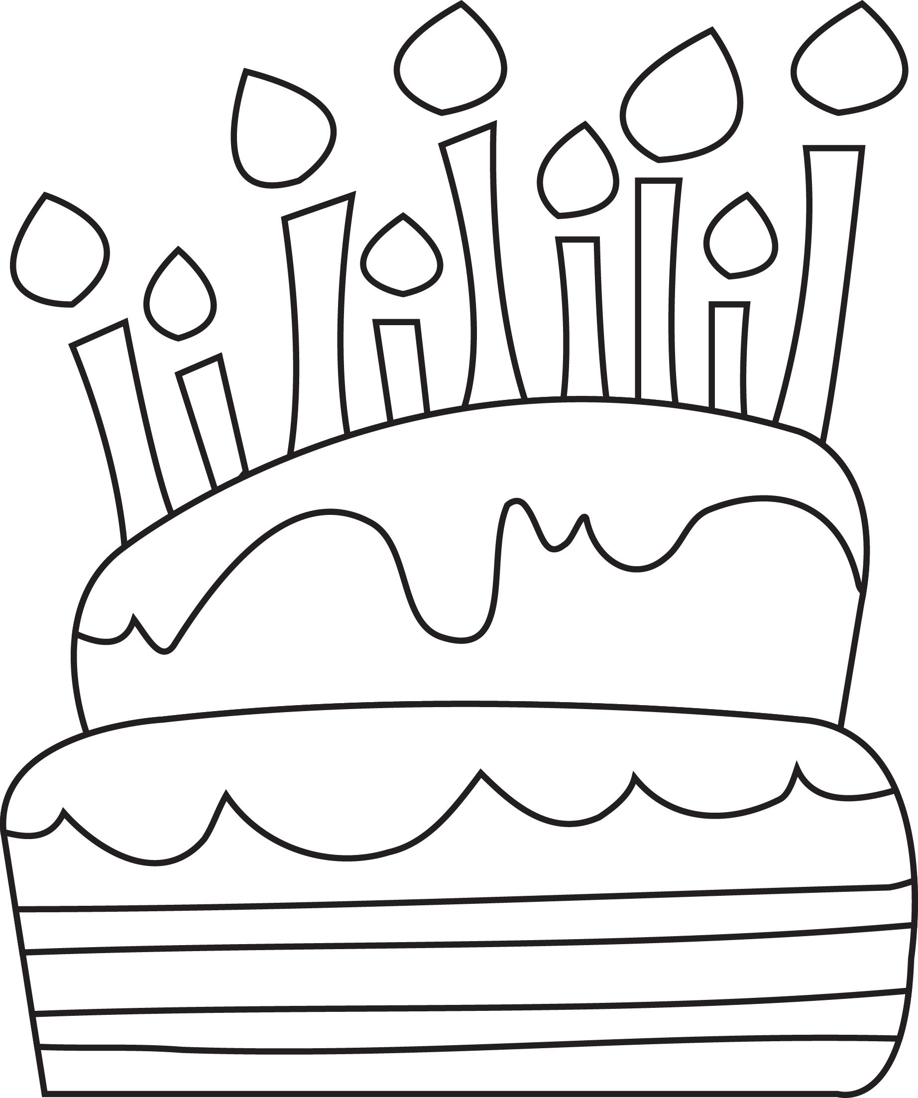 birthday cake easy drawing ; 6Tr5eKKGc