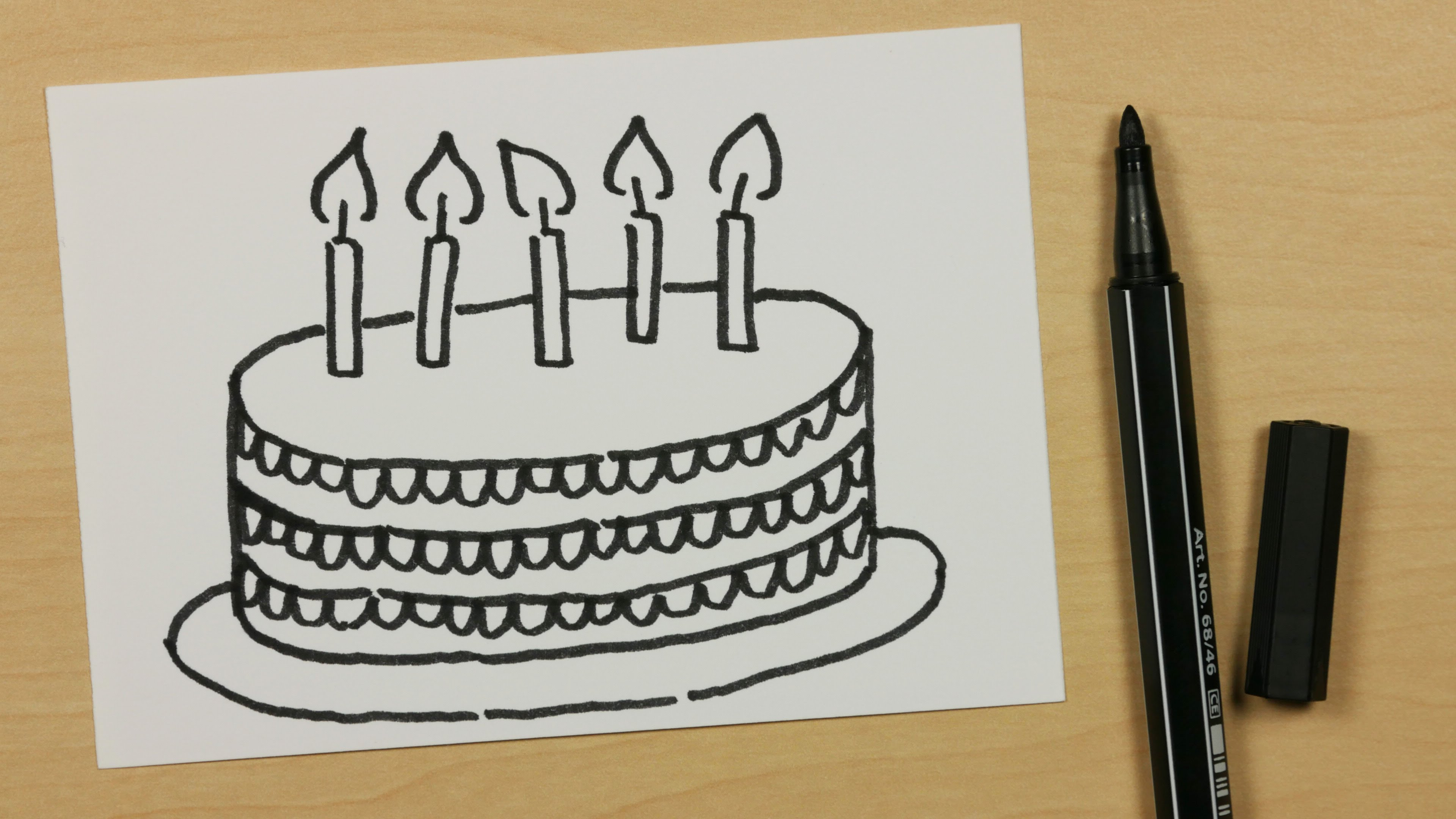 birthday cake easy drawing ; birthday-cake-pencil-drawing-photos-how-to-draw-a-happy-birthday-cake-easy-cartoon-doodle-for-kids